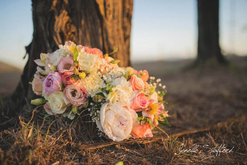 The beautiful bouquets of a wedding in Central Queensland.
