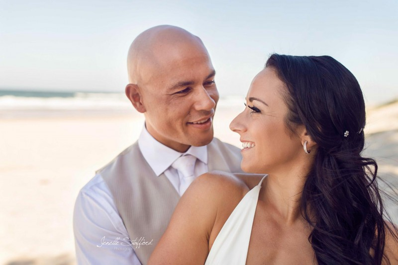 Beautiful outdoor wedding ceremony followed by a Gold Coast beach photoshoot for Rony and Shane.