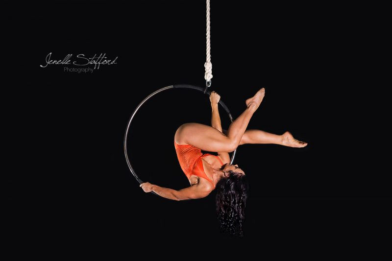 Dance photography with international aerialist and businesswoman, Rony Lebovics, on lyra, at her aerial studio on the Gold Coast.